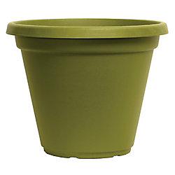 THD Delta Round Plastic Green Tea Planter 10 inch