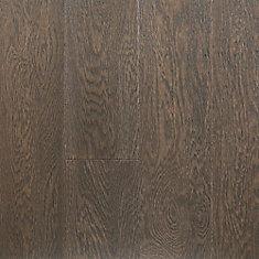 Revêtement de sol, 0.28 po x 5 po x longueurs var., 16.68 pi2/caisse, fini imperméable, bois franc, Grange