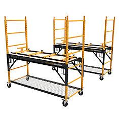 ScaffoldBench, Kit of 2, Multipurpose 4-in-1, 6' Baker Scaffold