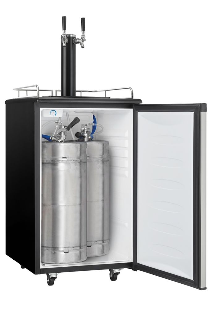 Danby 5 4 Cu Ft Dual Tap Kegerator The Home Depot Canada