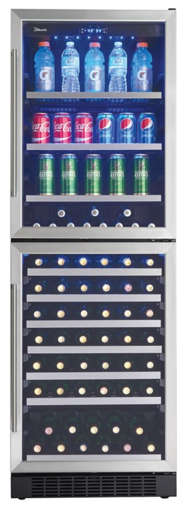 Refroidisseur à boissons et à vin à deux zones, 14 pi3