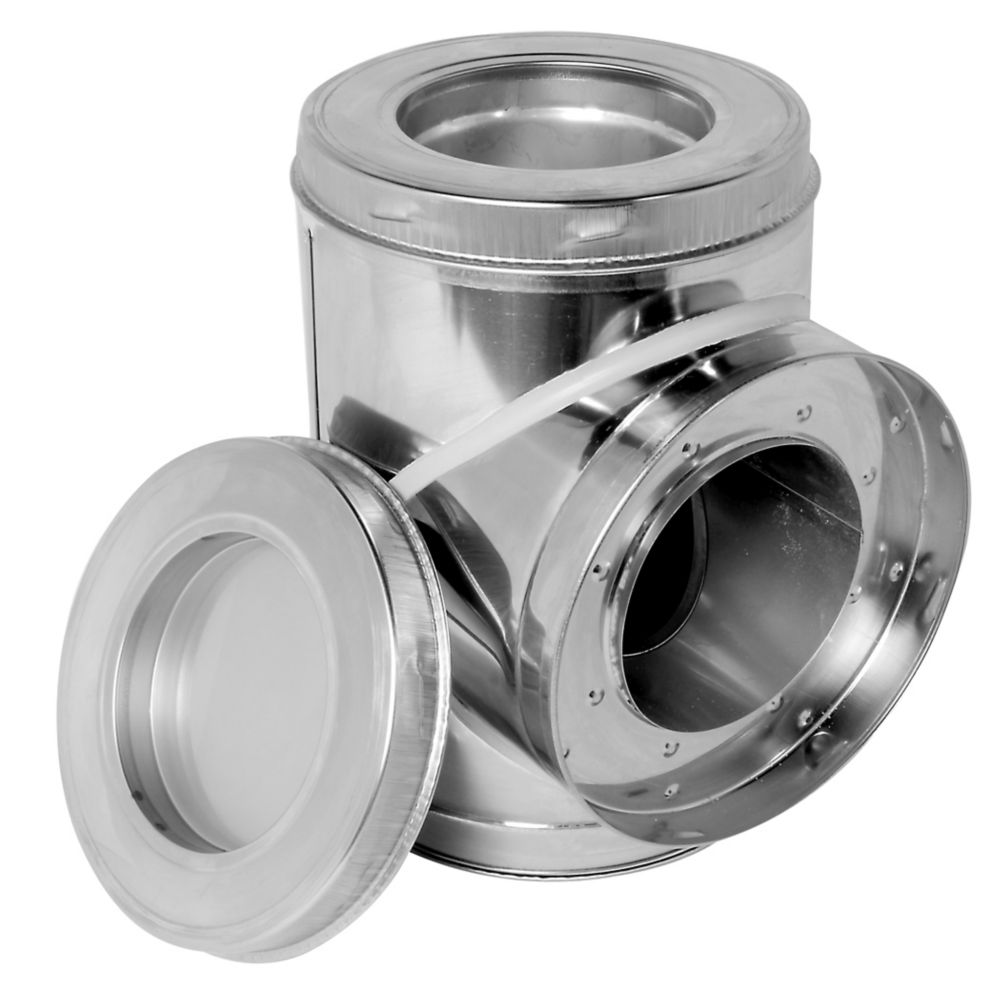 SuperVent 8 inch Insulated Tee with Plug