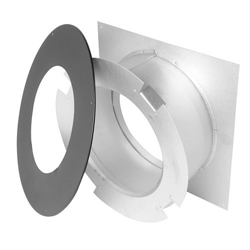 SuperVent 7 inch Wall Thimble - Black