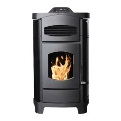 Ashley 2,200 Sq. ft. Epa Certified Pellet Stove With Polished Black Curved Sides