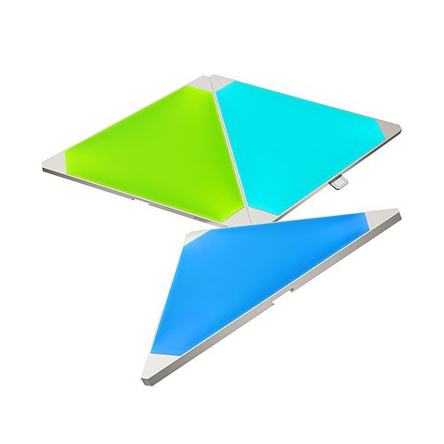 Light Panel Expansion Multi-Colour Triangle LED Panels 3-Pack