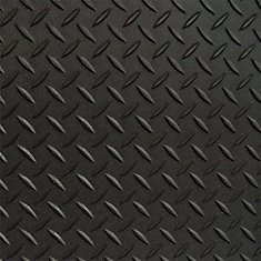 5 ft. x 7.5 ft. Black Textured Diamond Pattern PVC Garage Flooring (Covers 37.5 sq.ft.)