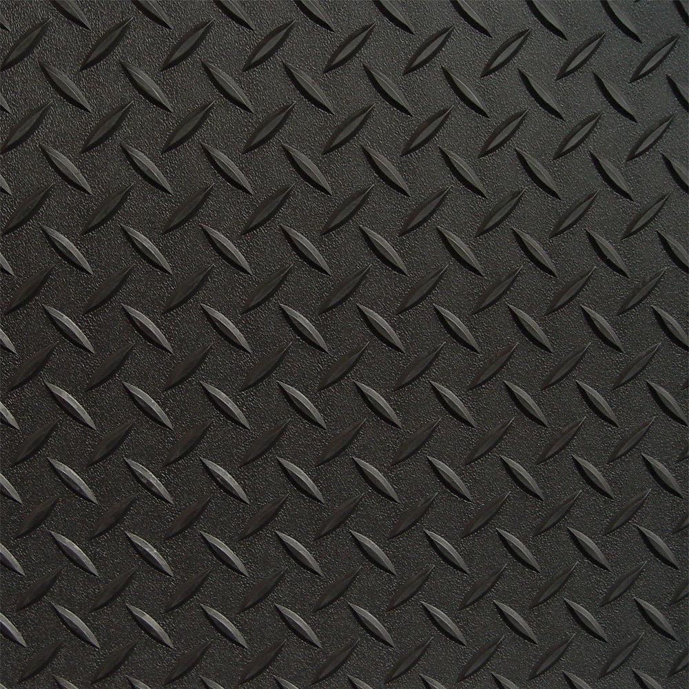 Roughtex 7 5 Ft X 17 Ft Black Textured Diamond Pattern