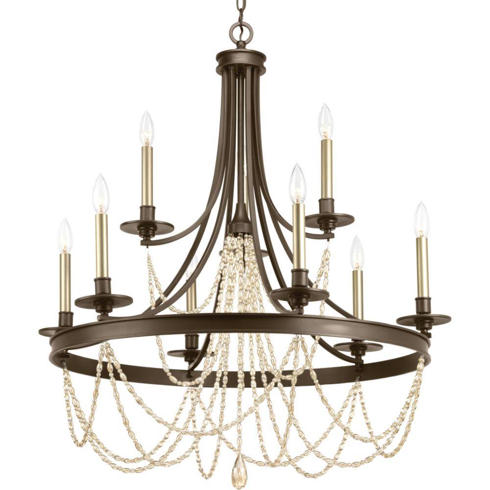 Progress Lighting Allaire Nine-light, two-tier chandelier