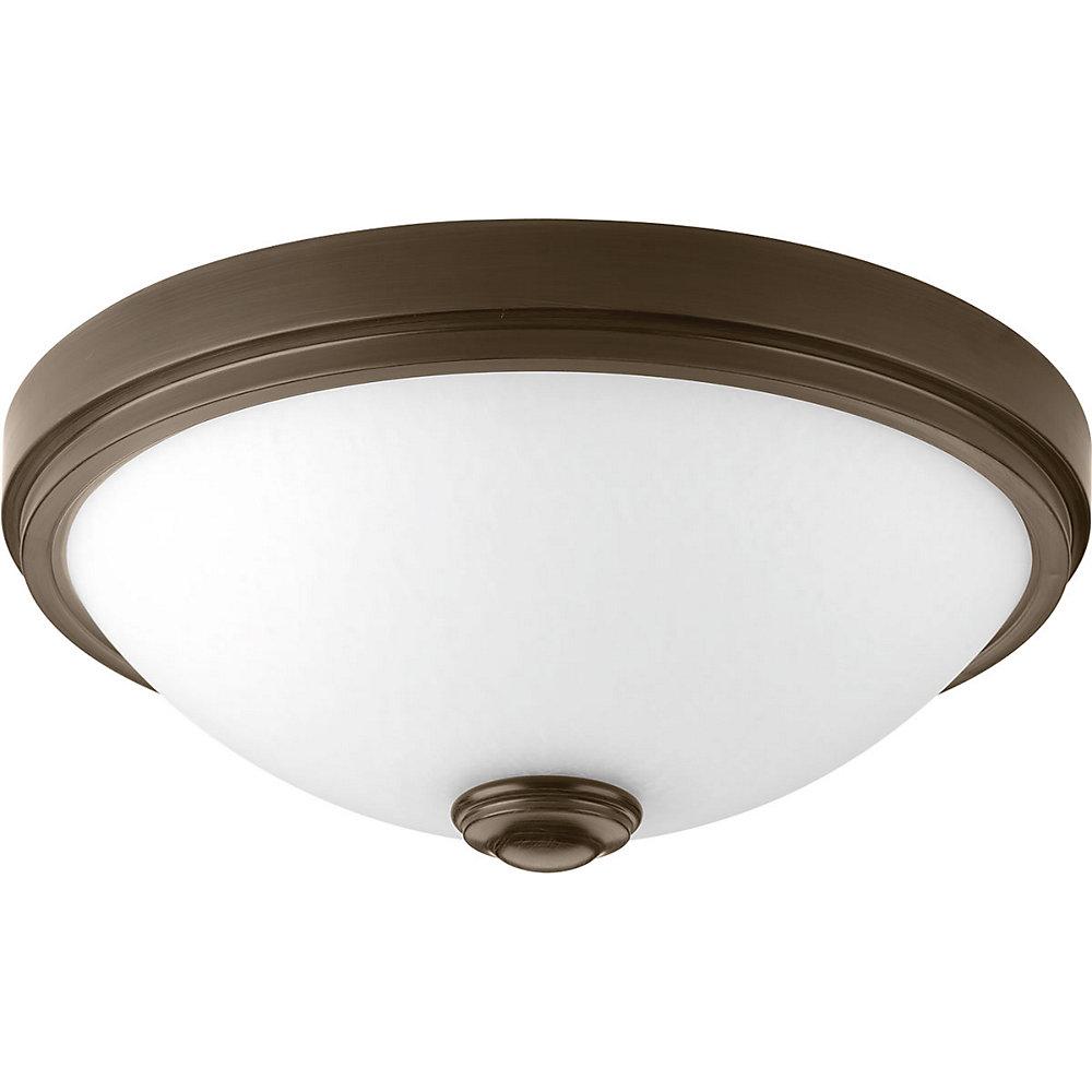 LED Linen One-light DC LED Flush Mount