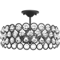Progress Lighting Vestique Three-light Semi-Flush Convertible
