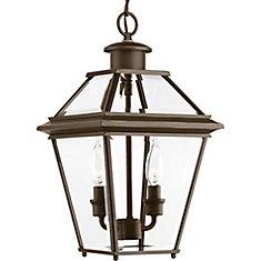 Lanterne suspendue Burlington à deux lumières