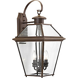 Progress Lighting Burlington Three-light Large Wall Lantern