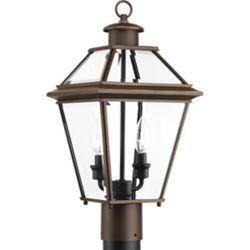 Progress Lighting Lanterne sur poteau Burlington à deux lumières