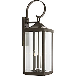 Progress Lighting Gibbes Street Three-light Large Wall Lantern 9.5 inch