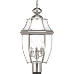 Progress Lighting Lanterne sur poteau New Haven à trois lumières