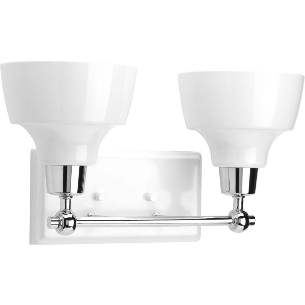 Progress Lighting Bramlett Collection 2-Light Polished Chrome Bath Light