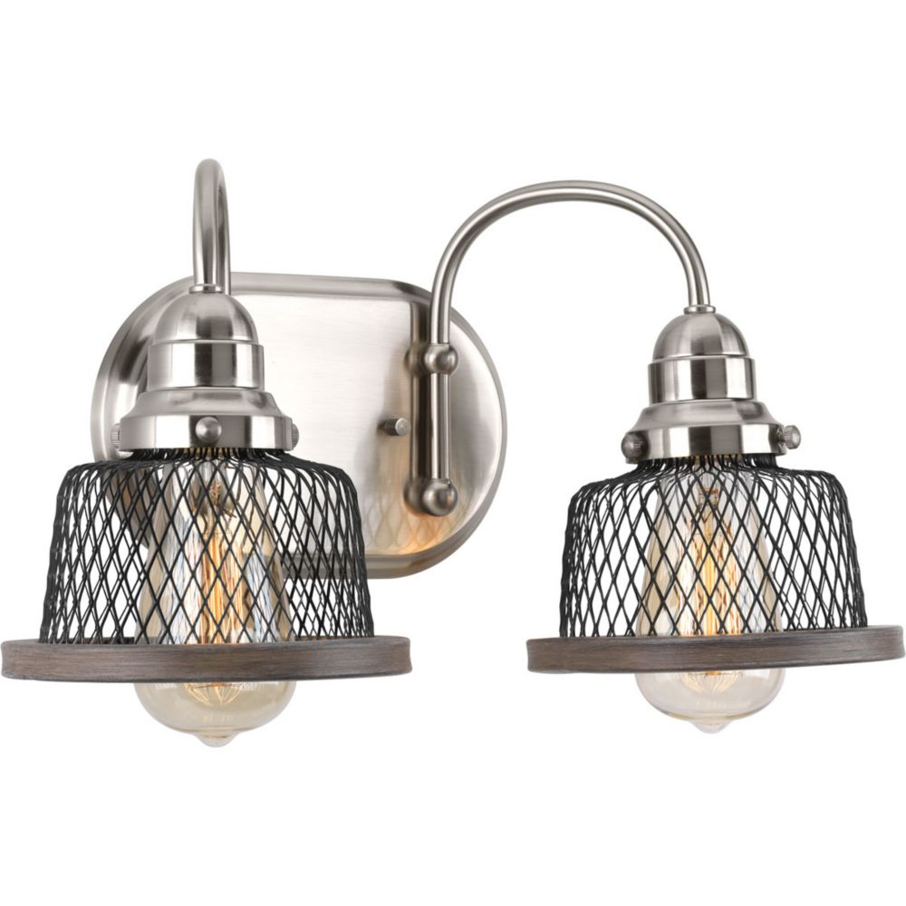 Tilley Collection 2-Light Brushed Nickel Bath Light