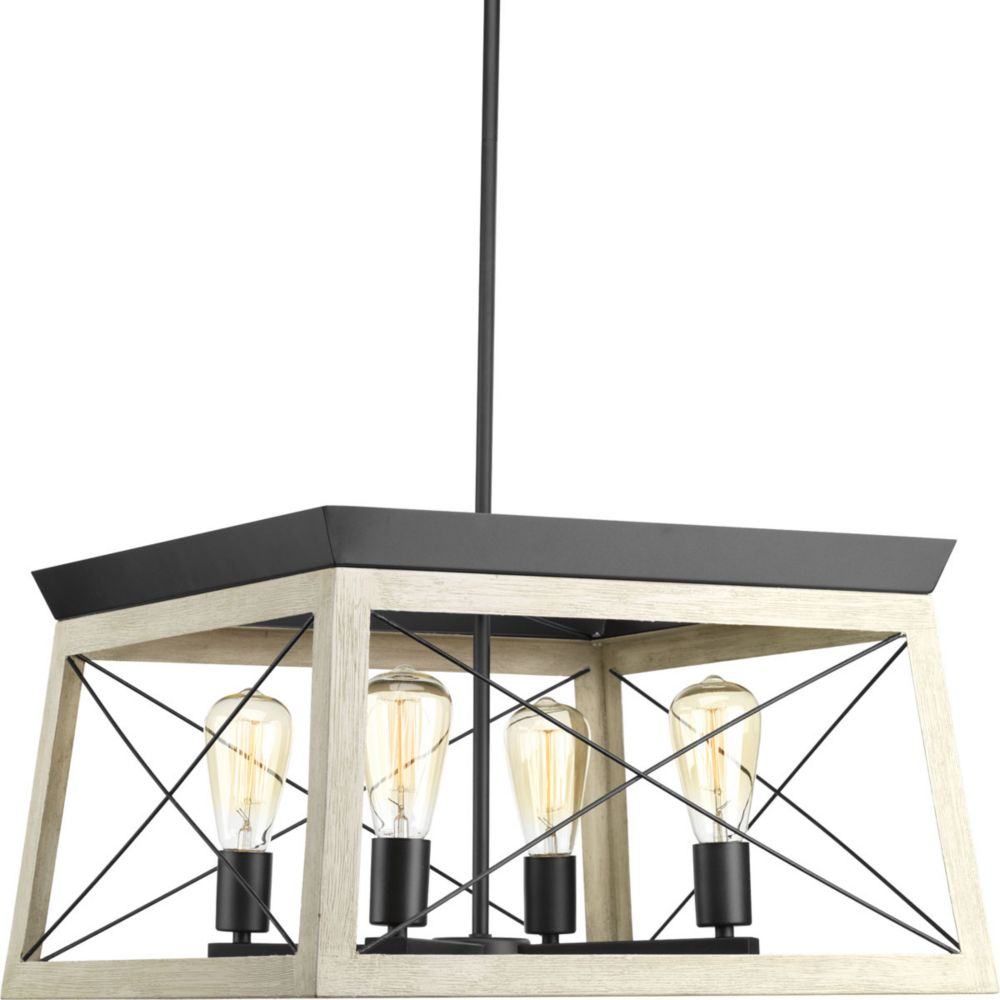 Progress Briarwood Collection 4-Light Graphite Chandelier P400047-143