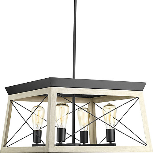 Briarwood Collection 4-Light Graphite Chandelier