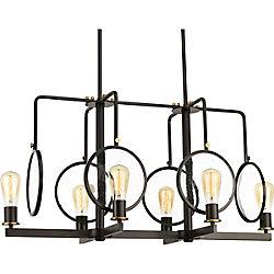 Progress Lighting Lustre à 6 lumières, collection Looking Glass - fini bronze antique