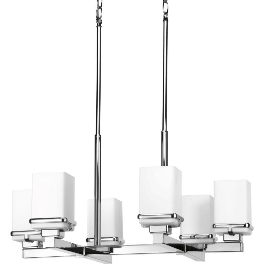 Progress Lighting Metric Collection 6-Light Polished Chrome Chandelier