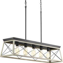 Progress Lighting Lustre à 5 lumières, collection Briarwood - fini graphite