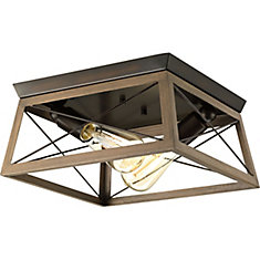 Briarwood Collection 2-Light Antique Bronze Flushmount