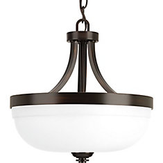 Topsail Collection 3-Light Antique Bronze Semi-Flushmount