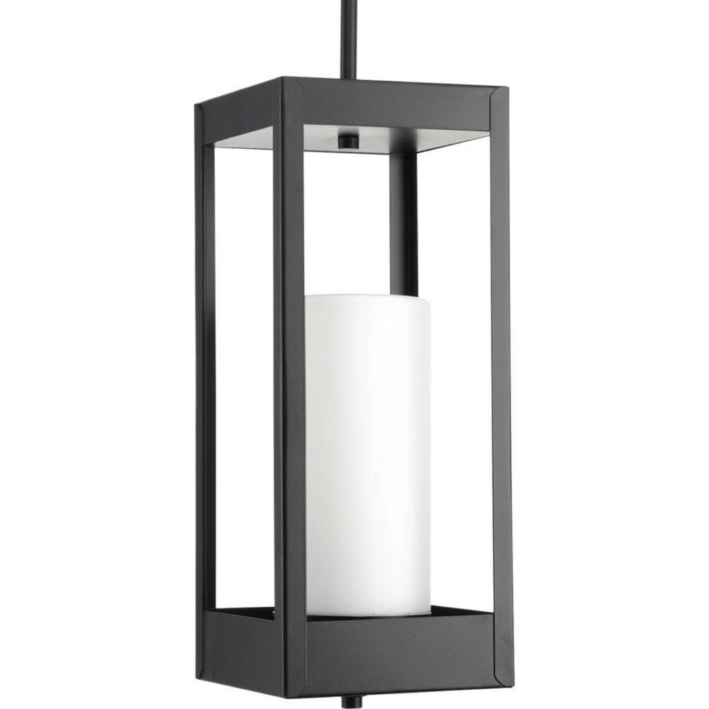 Progress Lighting Patewood Collection 1-Light Black Pendant