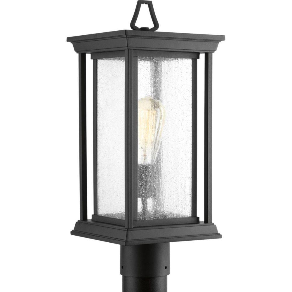 Progress Lighting Endicott Collection Outdoor Black Post Light