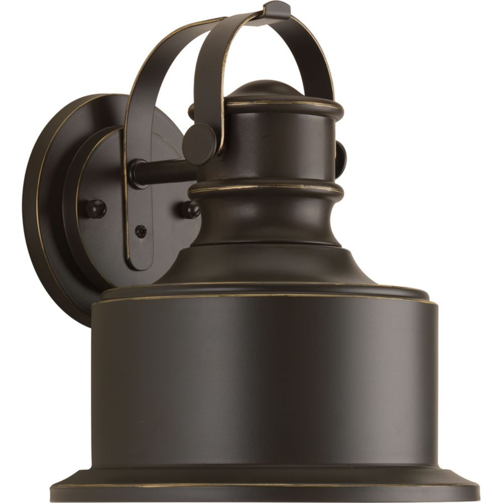 Progress Lighting Callahan Collection 1-Light Antique Bronze Wall Lantern