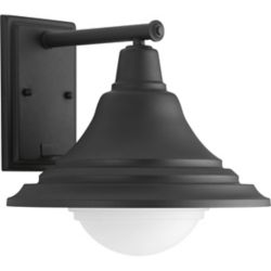 Progress Lighting Chandler Collection 1-Light Black Wall Lantern