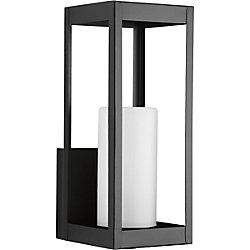 Progress Lighting Patewood Collection 1-Light Black Wall Lantern