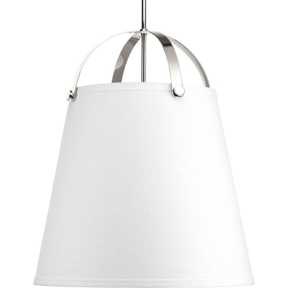 Progress Lighting Galley Collection 3-Light Polished Nickel Pendant