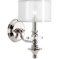 Progress Lighting Marché Collection 1-Light Polished Nickel Sconce