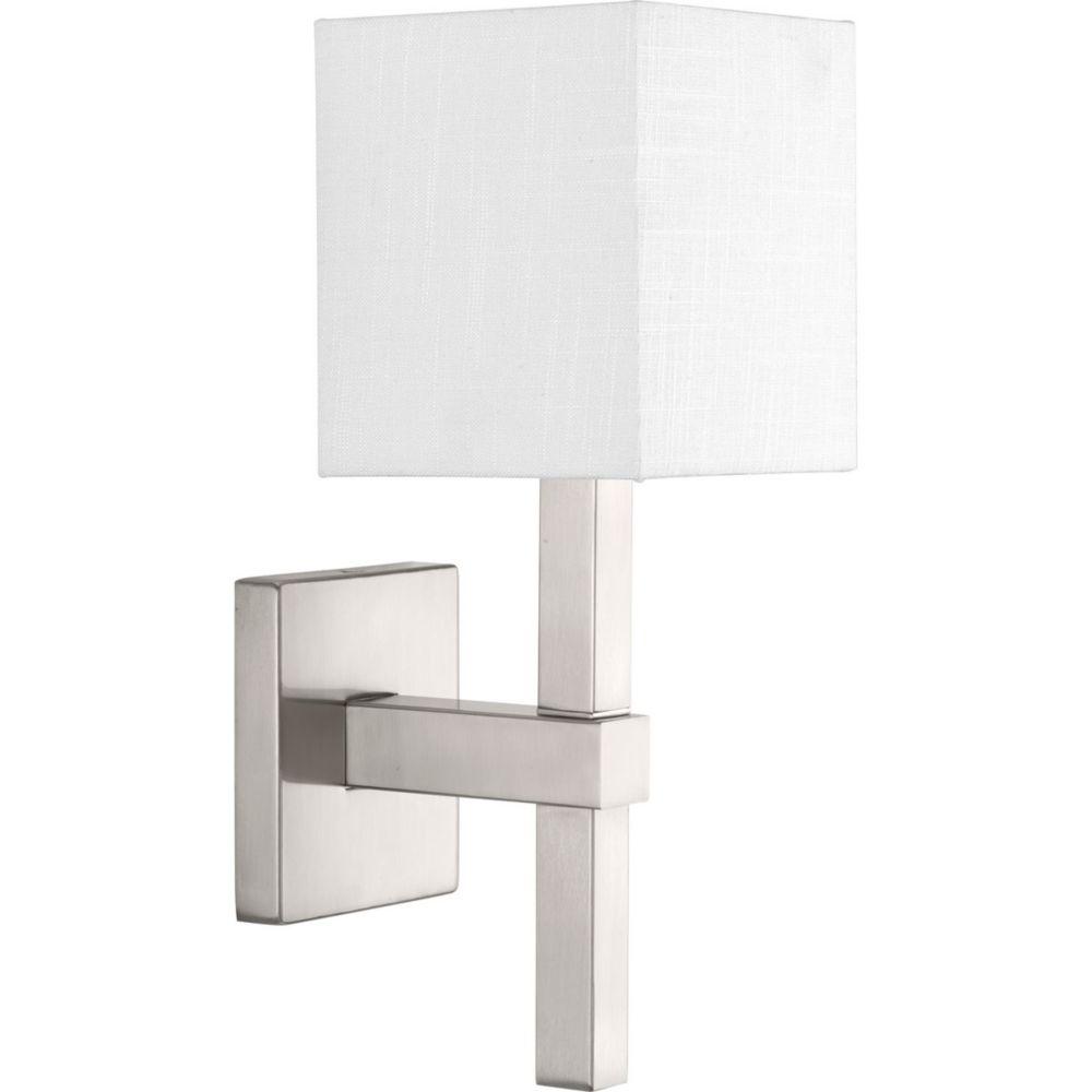 Progress Lighting Metro Collection 1-Light Brushed Nickel Sconce