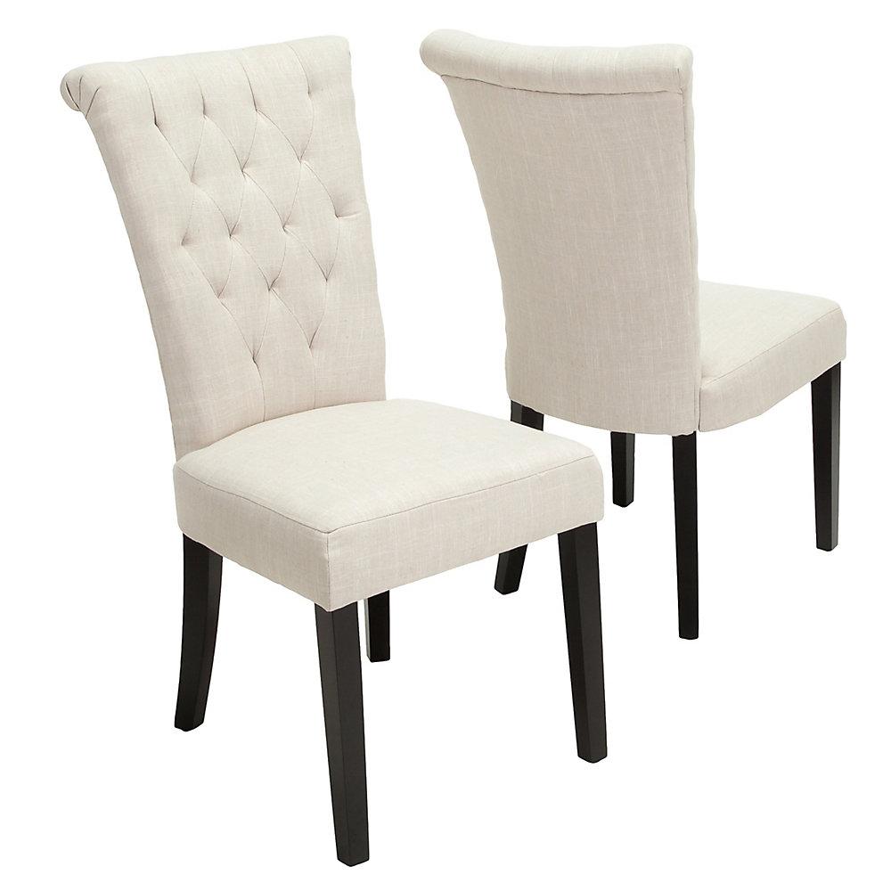 Chaises de salle à manger beige clair Venetian (Lot de 2)