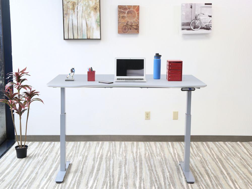 Motionwise Electric Height Adjustable Desk, Manager Style, 30-inch x60-inch , Dove Gray