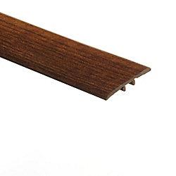 Moulure en T en vinyle de 5/16 po d'épaisseur x 1 3/4 po de largeur x 72 po de longueur, Hickory