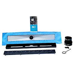 Linear Shower Drain 24-inch (Square - Black)