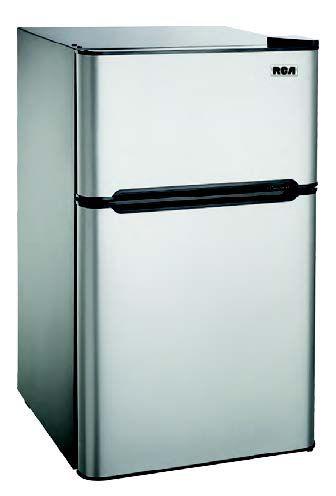 4.5 cu. ft. Compact 2 Door Fridge/Freezer Combination - Stainless Steel