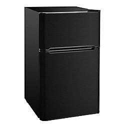 RCA 3.2 cu. ft. Compact 2 Door Fridge/Freezer Combination - Black Stainless Steel