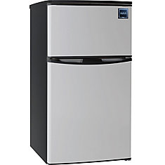3.2 cu. ft. 2 Door Fridge/Freezer Combination - Stainless Steel