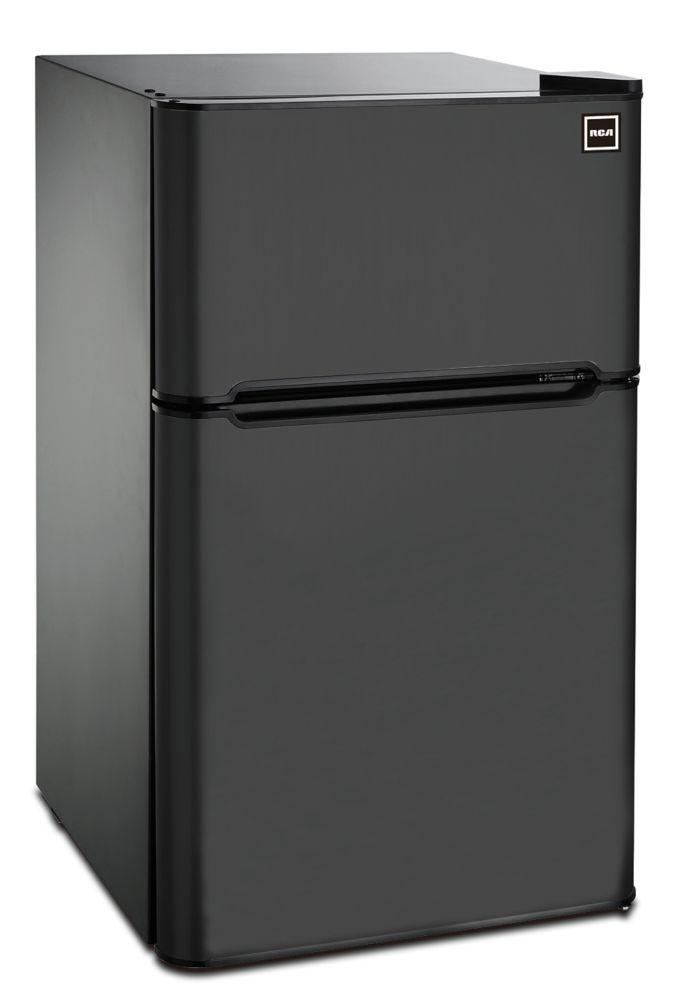 3.2 cu. ft. 2 Door Fridge with Top Freezer - Black