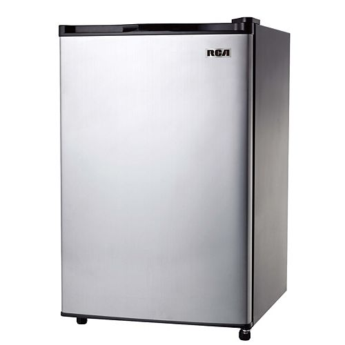 RCA 3.2 cu. ft. Compact Mini Fridge - Stainless Steel