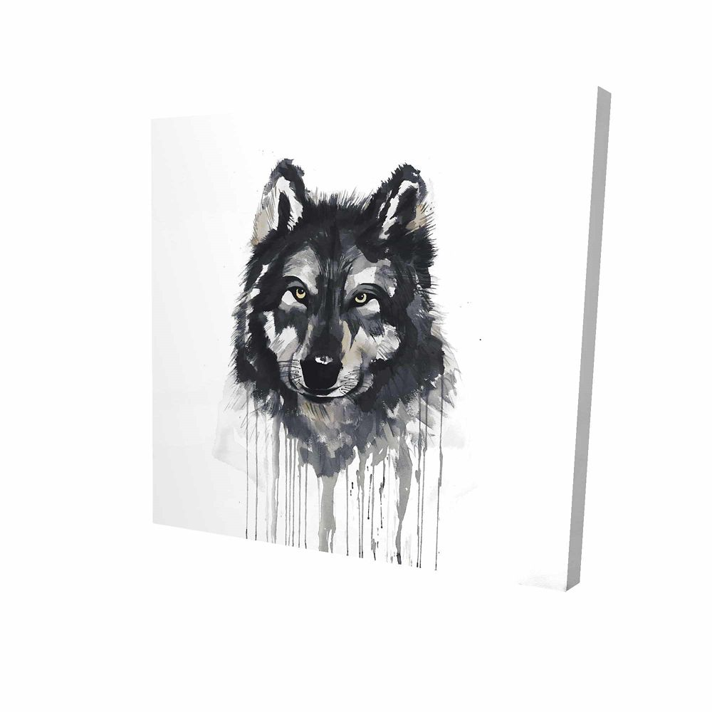 BEGIN EDITION INTERNATIONAL INC. Mysterious Wolve Printed On Canvas Wrapped On Wood, 36-inch x 36-inch
