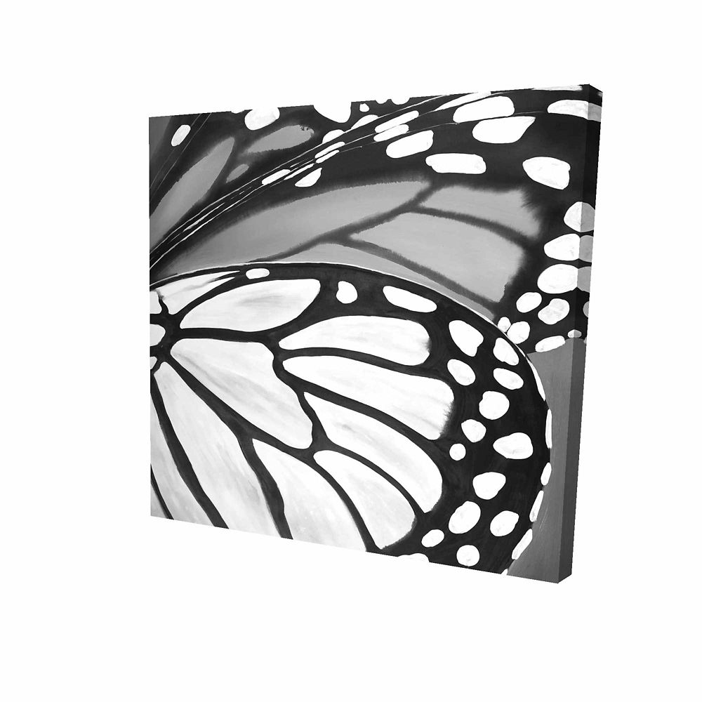 BEGIN EDITION INTERNATIONAL INC. Butterfly Wings Closeup Printed On Canvas Wrapped On Wood, 24-inch x 24-inch