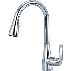 Grenville Single Handle Pull-Down Kitchen Faucet in Chrome