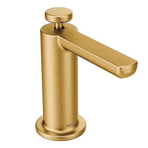 Distributeur de savon moderne en or brossé