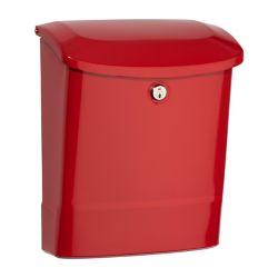 Architectural Mailboxes Boîte à lettres verrouillable pour montage mural Parkside rouge